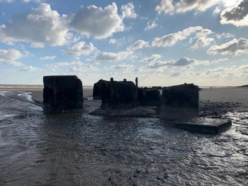 Remains of Coastal Sea Defences Fraisthorpe Beach
